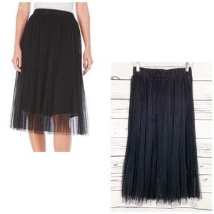ENGLISH FACTORY black tulle pleated skirt NWT
